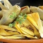 tamales de elote al horno
