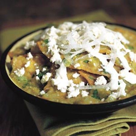 Chilaquiles verdes » Chilaquiles preparados con salsa verde