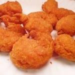 camarones empanizados rellenos con queso crema