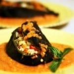 chiles rellenos con camarón
