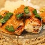 pollo con salsa de cacahuate