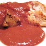pollo en mole rojo
