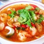 sopa de camarones