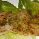 lomos de conejo en salsa de cilantro