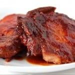 chuletas de cerdo en salsa agridulce