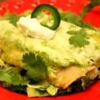 enchiladas en salsa de espinacas