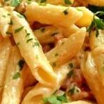pasta en salsa blanca