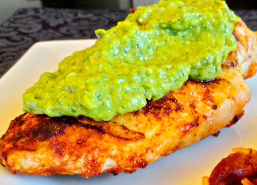 Receta de pechugas de pollo en salsa de aguacate recetas mexicanas - Salsas para pechuga de pollo ...