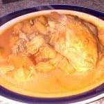 pollo con manzana y piña