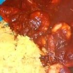 camarones en salsa brava