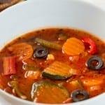 sopa de zanahoria y calabacitas