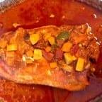 lomo relleno con pollo y verduras