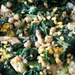 pechuga de pollo con espinacas