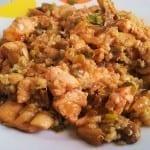 Quinoa con pavo y champiñones