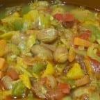 receta de frijoles con vegetales