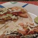 receta de tacos de manta y camarón