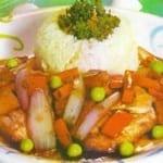 pescado con verduras