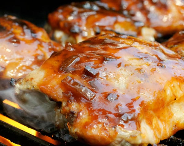 pollo salsa barbecue