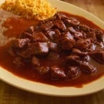 bistec chile colorado naranja
