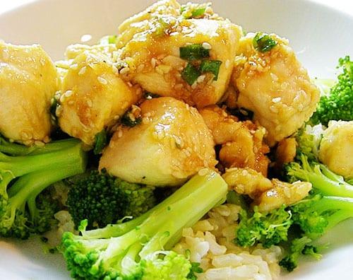 Pechugas de pollo preparadas con brócoli
