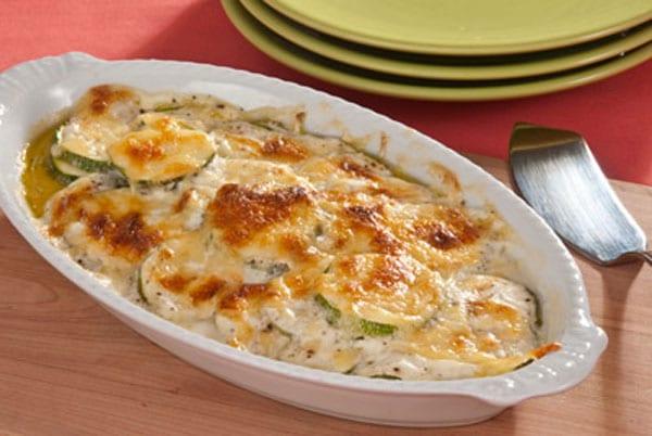 calabacitas con queso gratinado