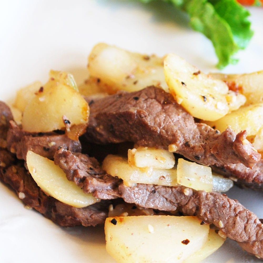 bistec con papas