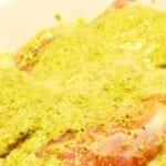 pescado en salsa de cilantro
