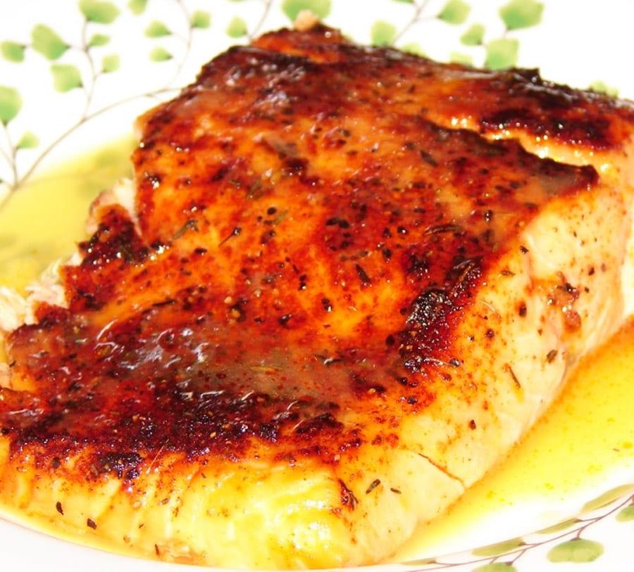 pescado en salsa de naranja