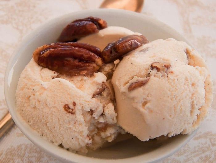 Receta de helado de nuez