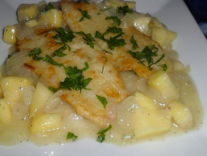 receta de pescado con manzana