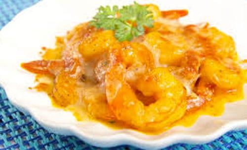 camarones rojos con queso