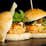 receta de hamburguesa de salmon
