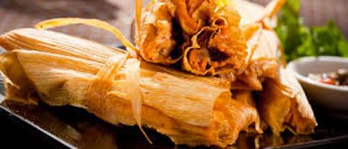 tamales de puerco enchilado
