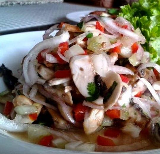 receta vegetariana de ceviche de champiñones