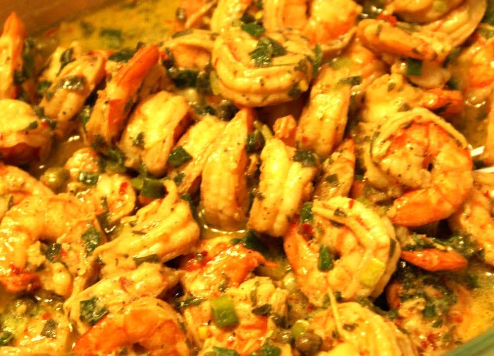 camarones a la mostaza