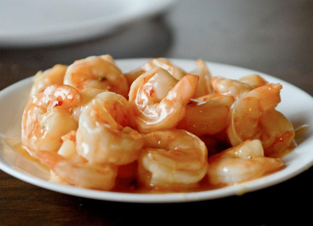 camarones salsa de ajo