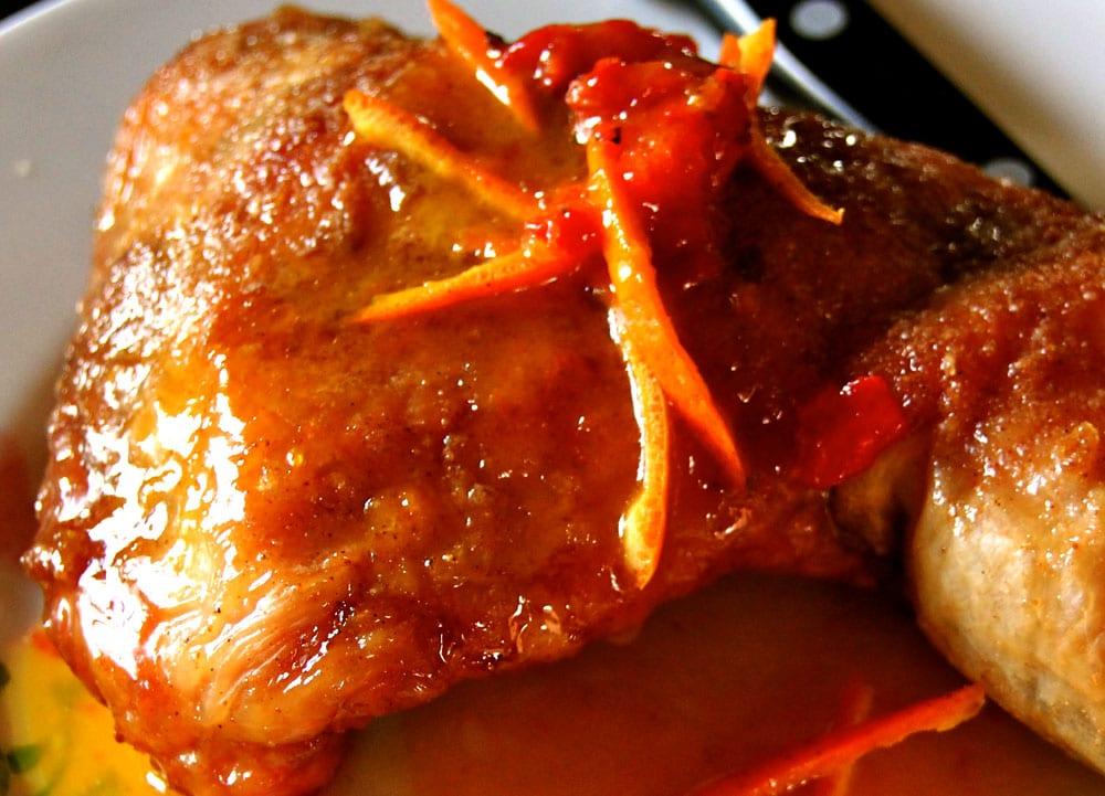 pollo en mandarina