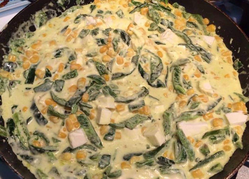 rajas de chile con queso