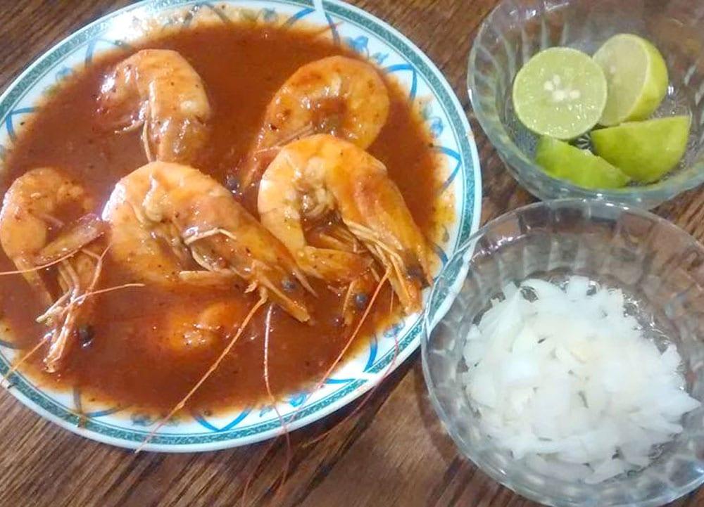 Receta de huatape de camarón