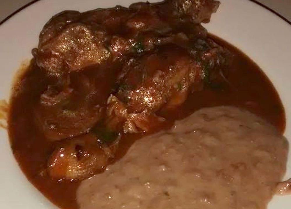 Receta de pollo en chile colorado