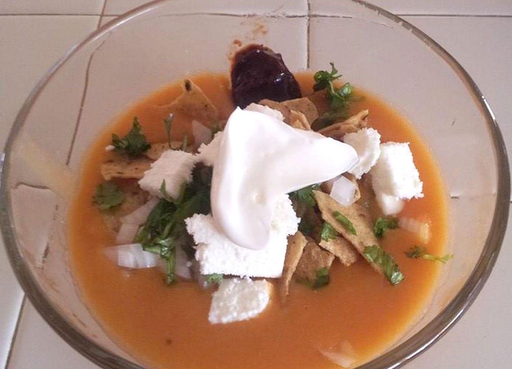 Receta de sopa de frijol