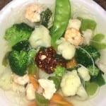 sopa de pollo y camarón