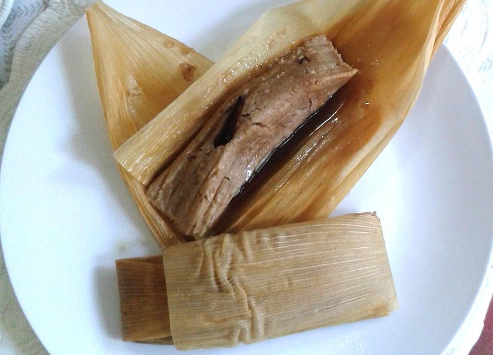 tamales de garbanzo