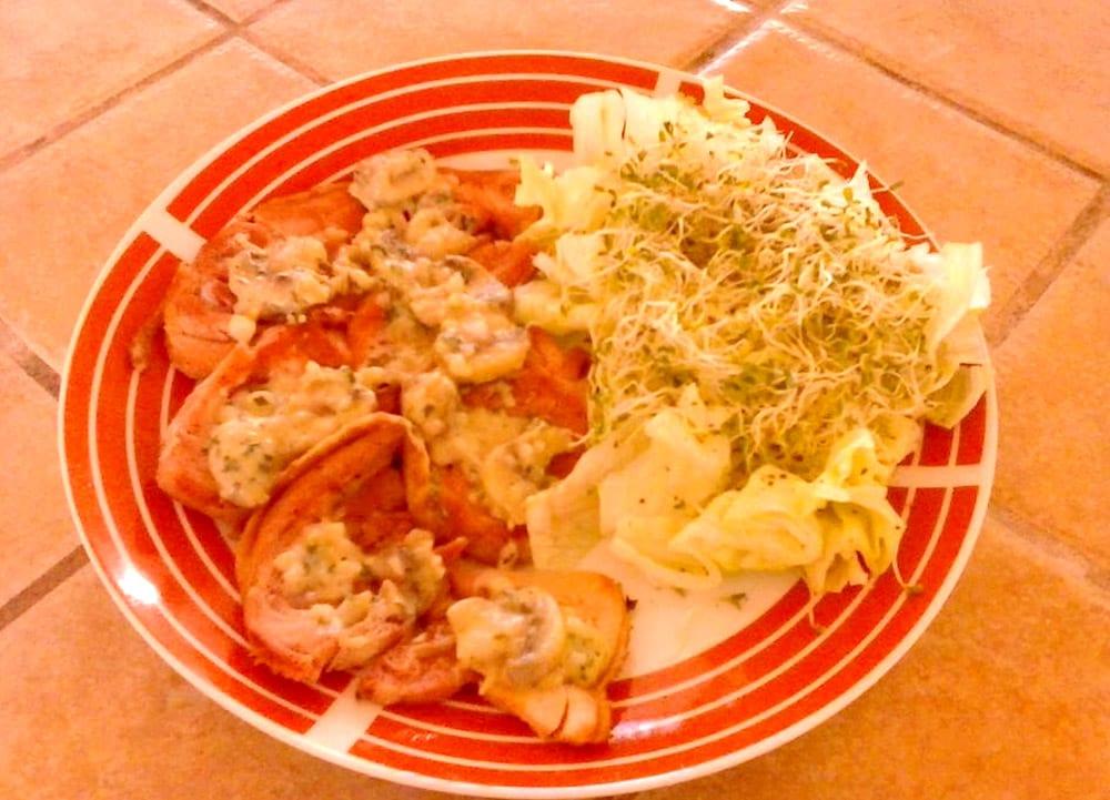 Receta de chuletas de pavo en salsa de champiñones