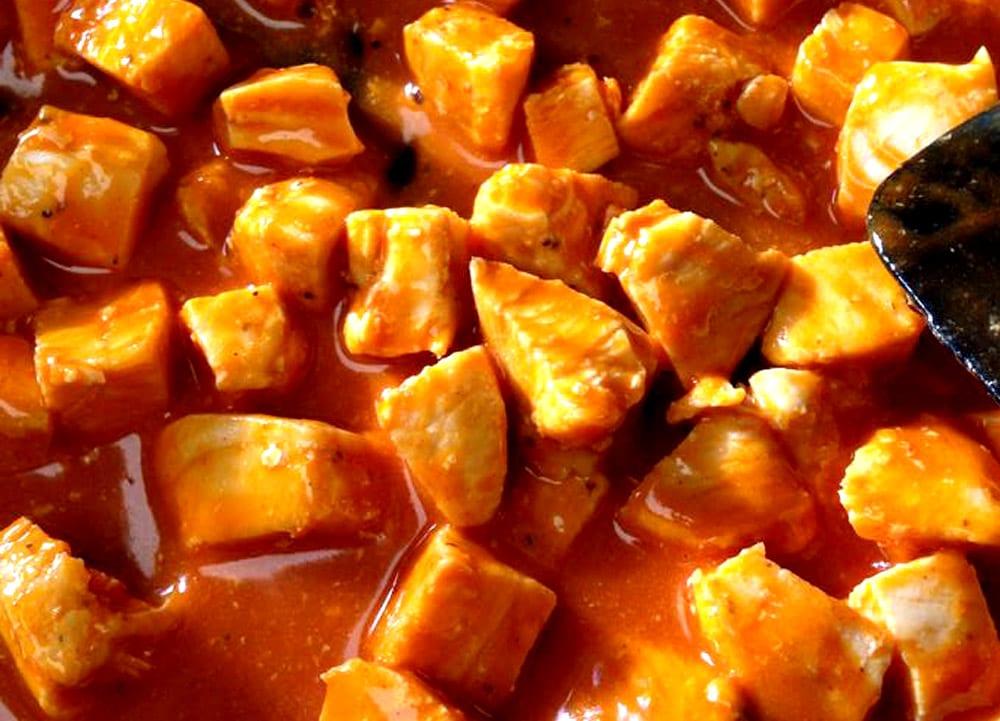 Receta de pollo en salsa bufalo