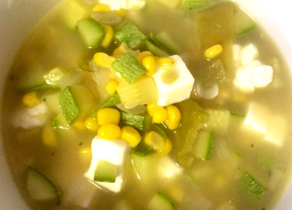 Receta de sopa de calabacitas