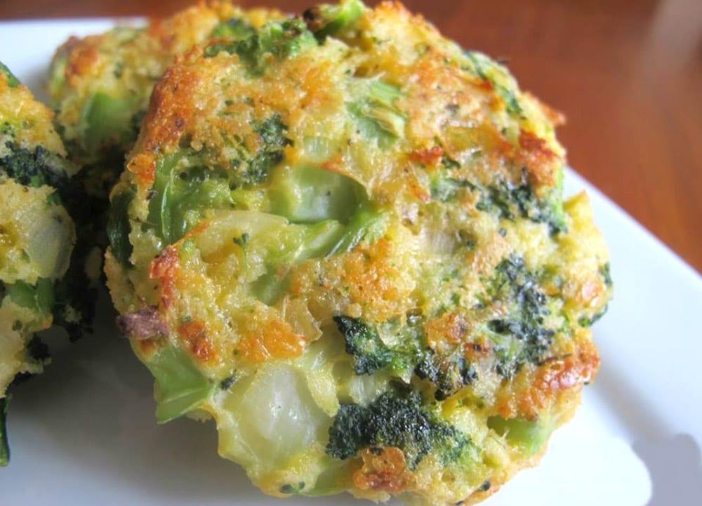 tortas de brocoli