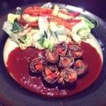 rollos de carne rellenos de vegetales
