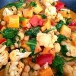 vegetales al curry