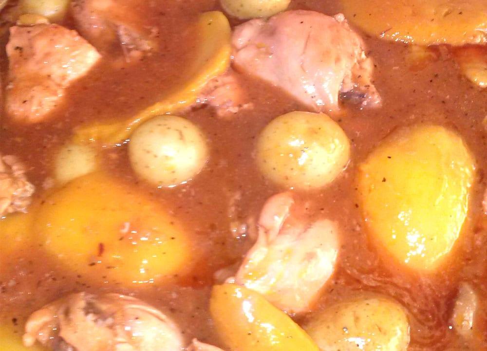 Receta de pollo con chipotle y mango